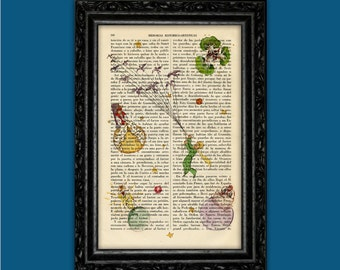 The Little Prince print on book page Book Art Print Le Petit Prince Vintage Dictionary Book Art Print Upcycled Wall Exupéry quotes(Nº20)