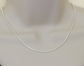 Silver Plated Snake Chain Necklace.