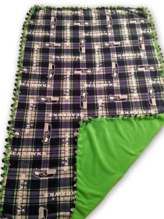 Seattle Seahawks Fleece Blanket | Seahawks Throw Blanket | NFL Stadium Blankets | Licensed NFL Fleece | Football Stadium Blanket | Handmade