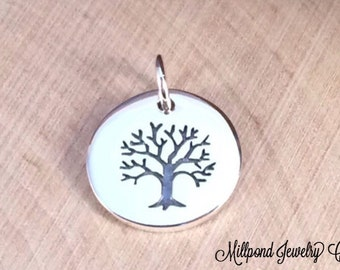 Tree of Life Pendant, Tree of Life Charm, Family Tree Pendant, Family Tree Charm, Sterling Silver Tree of Life, Small, PS0193