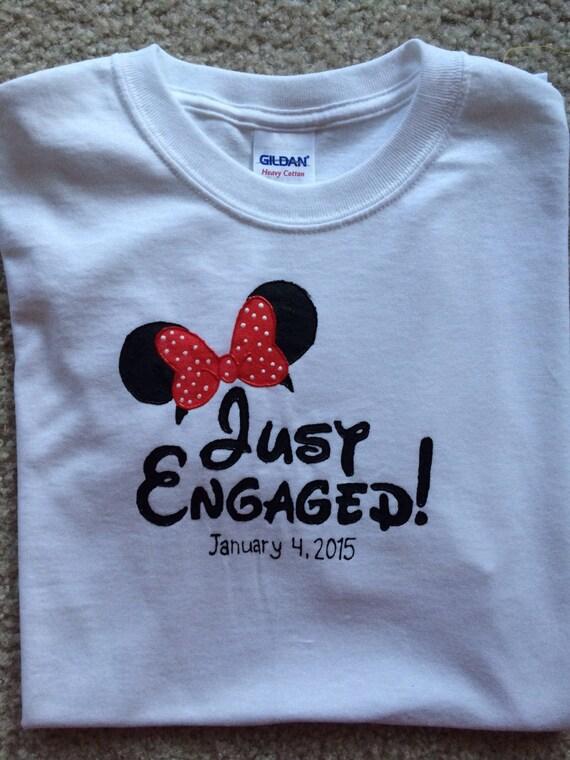 Disney Engagement Shirt Minnie By Kenslieskastle On Etsy