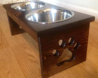 "6""-10"" Medium Raised Custom Dog Feeder Dish Bowl"