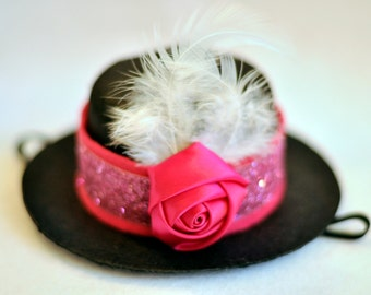 Little Pink Lady MINI Top Hat SnuggleHat! - Interchangeable Bands! Customize!