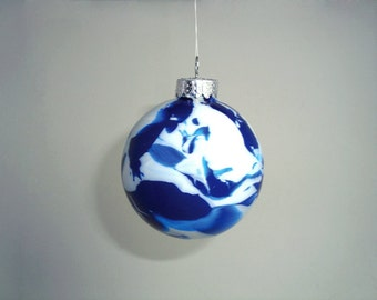 "3"" Marbled Glass Ornaments"
