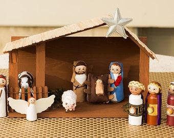 Nativity Set Peg Dolls