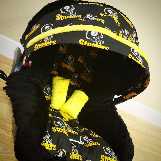 pittsburgh steelers infant car seat replacement cover you. Black Bedroom Furniture Sets. Home Design Ideas