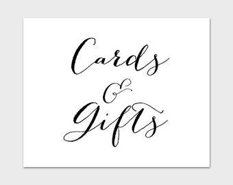 Wedding Gift Table Sign Template : ... Gifts Wedding Sign, Wedding Table Sign, Reception Table Sign, Wedding