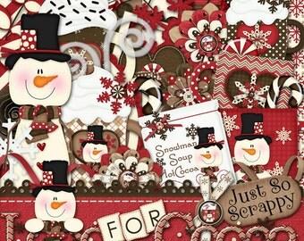 Winter Digital Scrapbooking Kit Loco For Cocoa, Scrapbooking, Digital