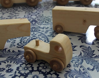 Wooden Toy Cab and Trailer (Truck)