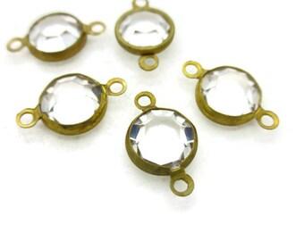 Vintage 39SS Swarovski Crystal Setting Connectors, 15mm, 4pcs