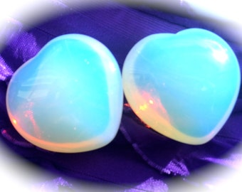 Opalite Heart, Crystal Grid, Chakra, Reiki, Sacred Space, Pagan Altar, Meditation, Samhaim, Halloween, Great Gift!