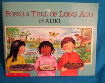 vintage 1993 book Fossils Tell of Long Ago by Aliki