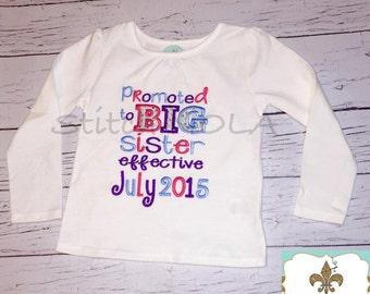 Promoted to BIG Sister Shirt or Bodysuit