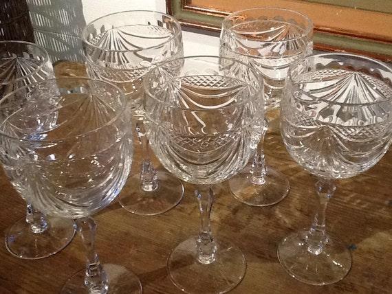 Set of six glasses cristallerie de lorraine - Cristallerie de lorraine ...