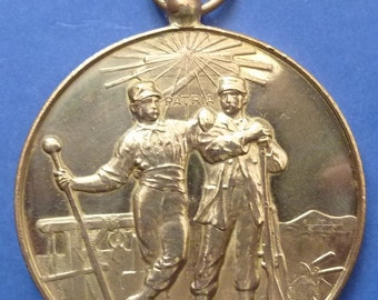 Old French Military Shooting Medal. Circa 1880s Period. Fabulous Condition.