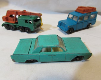 Vintage Matchbox, Lot of Three, 1960's and 1970's