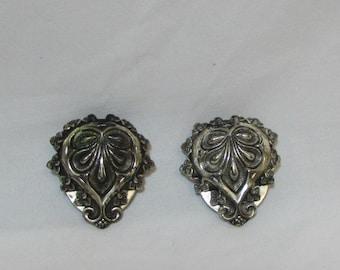 Vintage Silver Ernest Steiner Shoe Clips (pair), 1940's