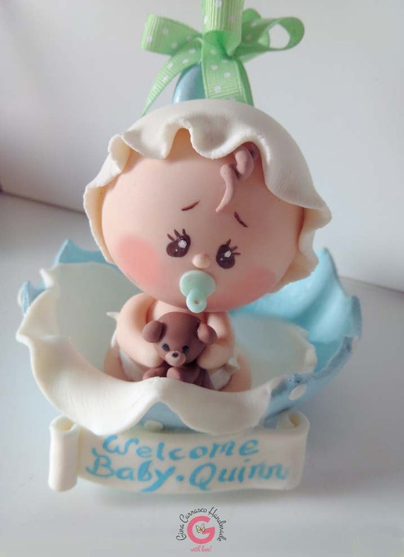 Cake Toppers Baby Shower Etsy : Items similar to Baby Shower Cake Topper, Baby in umbrella ...