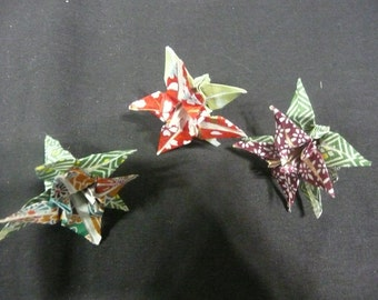 Origami Paper Flower Hair Clips