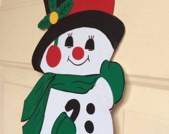 Snowman - Muñeco de Nieve door/wall decoration Merry Christmas theme
