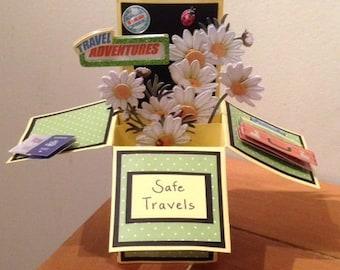 Travel Good Bye Pop Up Card