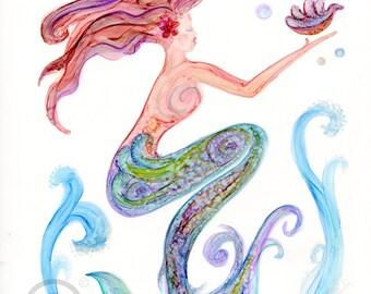 Three Sea Life Watercolor Prints