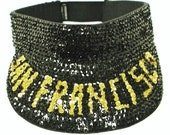 Sequin Sun Visor Black SAN FRANCISCO