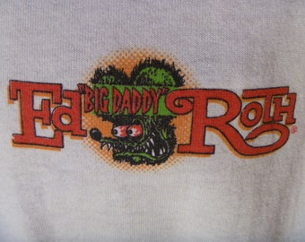 "1980's Authentic Rat Fink Ed ""Big Daddy"" Roth T Shirt Purchased From Roth Himself In The 80's Men's XL, Mint! Gearhead, Kustom Kulture!"
