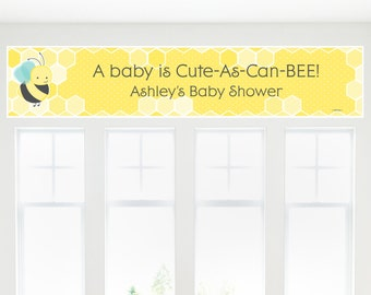 Honey Bee Banner - Custom Baby Shower, Birthday or Grandma-To-BEE Party Decorations