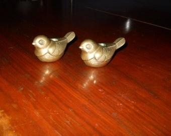 Brass bird candle holders