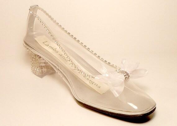 Cinderella Glass Slipper Wedding Shoes Glass Bridal By AJuneBride