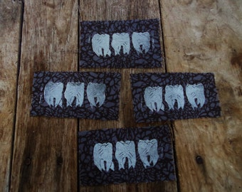 """Limited edition """"shatter"""" three teeth fabric sew on patch"""