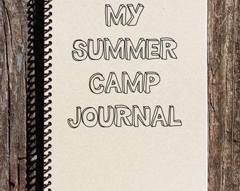 Summer Camp Journal - Summer Camp Diary - Summer Camp 2015 - Kids Summer Camp - Girls Camp - Boys Camp