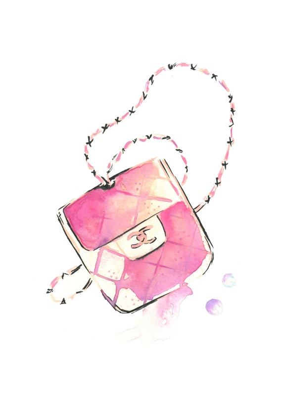 Chanel Bag Illustration Chanel Bag Fashion