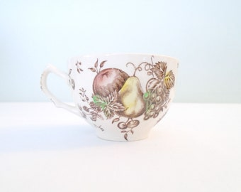 Teacup Autumn's Delight JOHNSON BROS Brothers Ironstone Teacup. Made in England Circa 1960s