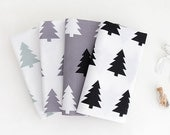 Scandinavian Nordic Style Pine Tree Pattern Fabric - 4 Colors Selection
