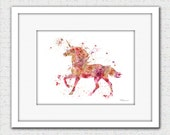 Unicorn print, unicorn watercolor, unicorn art, unicorn painting, unicorn illustration, unicorn silhouette, fairy tale art, unicorn decor