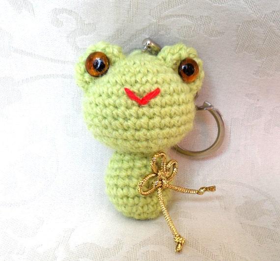 Kawaii Frog Amigurumi : Kawaii Frog Amigurumi Key Ring