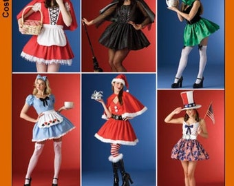 OUT of PRINT Simplicity Pattern 4015 Misses Costumes, Hats in Three Sizes