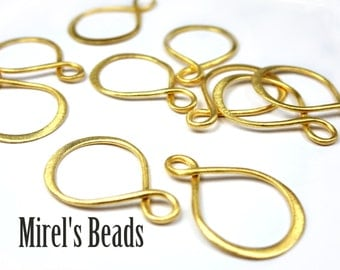 22k Gold Over 925 Sterling Silver Infinity Link, Infinity Connector, Eternity Link, 20mm x 13mm