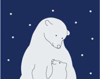 Polar Bear Handcrafted Applique Garden Flag