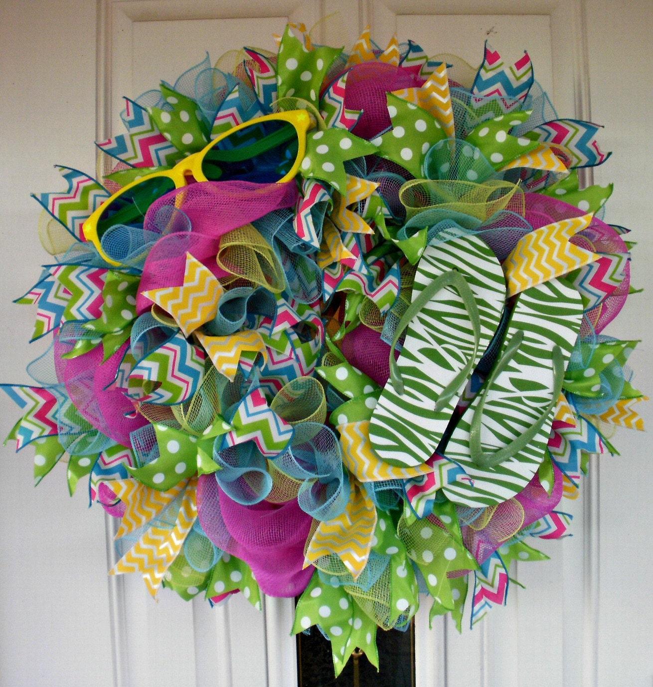 Flip Flop Wreath XL Wreath Beach Wreath Spring Wreath