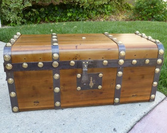 Iron Banded 1840's Antique Trunk