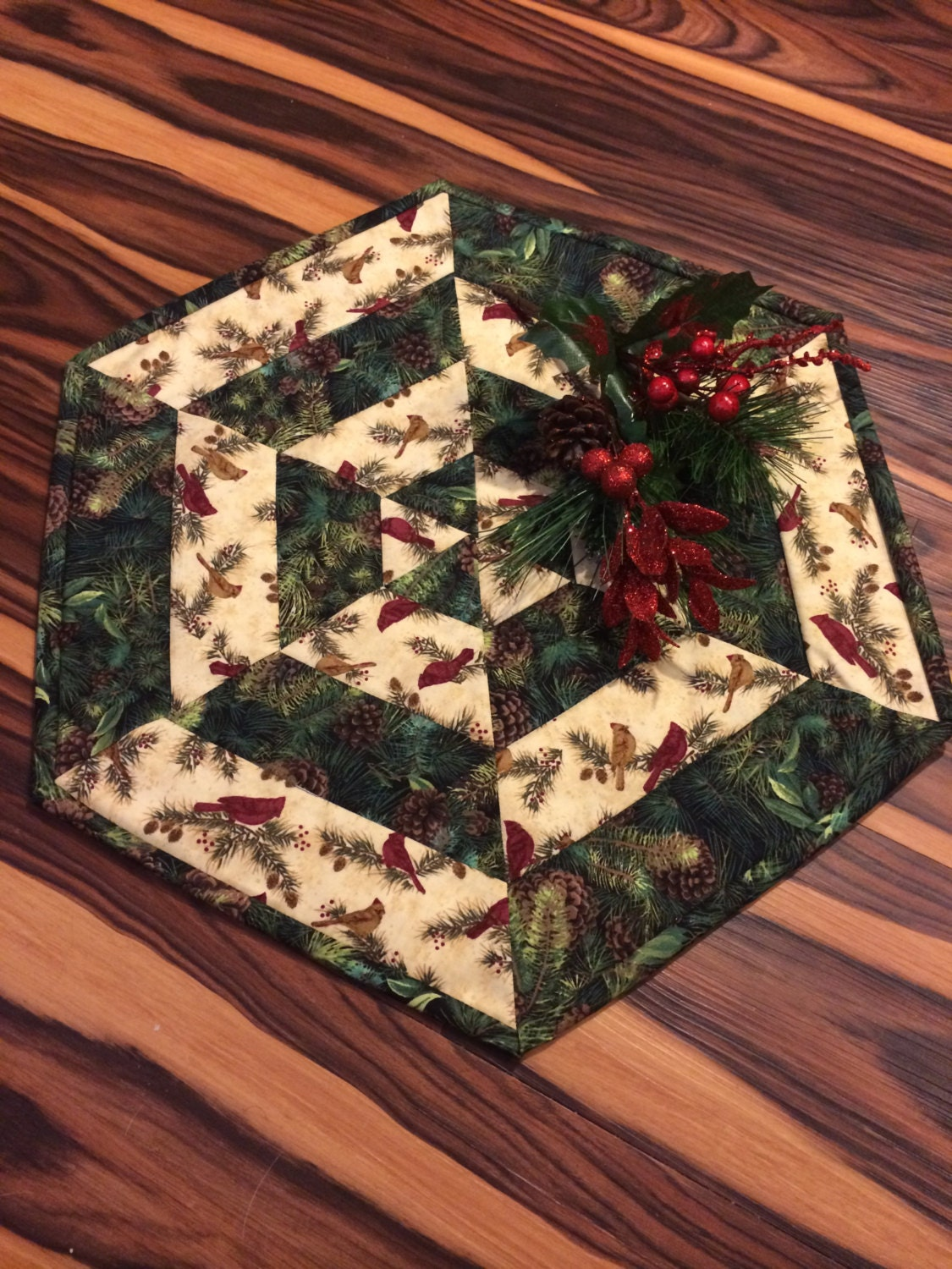Quilted Christmas Table Toppers