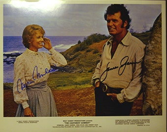 James Garner  and Vera Miles   Color 10 X 8  Photograph  signed by both