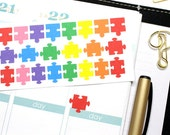 30 Colorful Puzzle Piece stickers! Perfect for your planner! #SQ00583