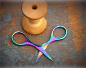 rainbow embroidery scissors by tooltron