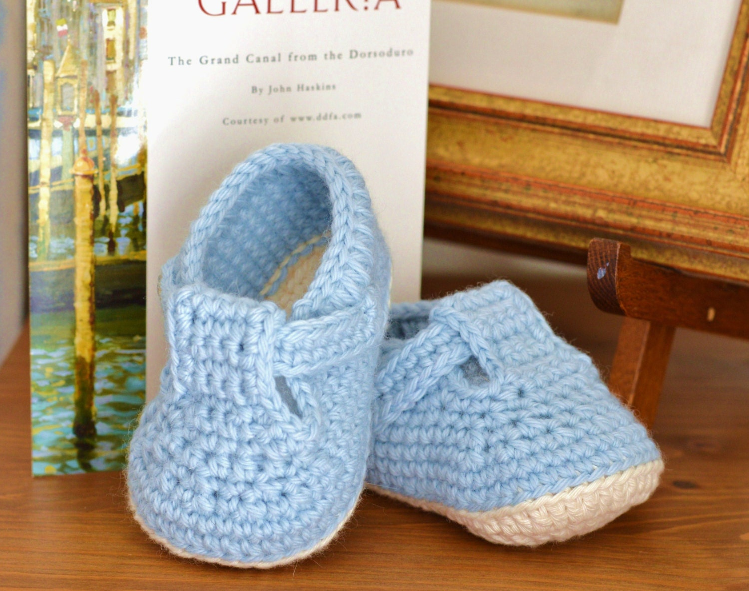 CROCHET PATTERN Baby Shoes T Bar Baby Sandals for Baby Boy