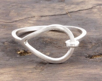 925 stering silver lovely buckle band ring, wedding gift, bridesmaid ring