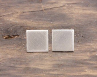 925 stering silver matte right square stud earrings (E_00012)